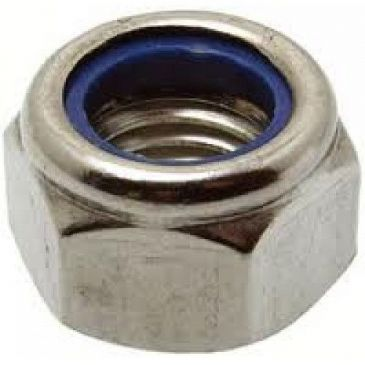M8 Nyloc Nuts Grade A4 316 Stainless Steel To DIN 985 Type T Packed In 10's